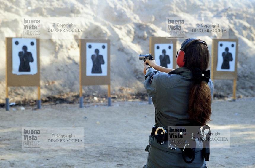 - scuola scorte della Polizia di Stato ad Abbasanta (Oristano), poligono di tiro esterno<br /> <br /> - State Police escort school at Abbasanta (Oristano), outdoor shooting range