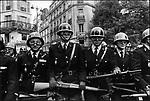 Gendarmes mobiles anti-riot forces on Boulevard Saint-Michel, Paris, France, May 6, 1968