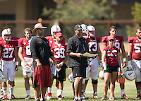 Stanford, CA - August 16, 2014.  Stanford Football Fall Open House, Practice at Elliott Fields.
