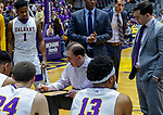 Stony Brook defeats UAlbany  69-60 in the America East Conference tournament quaterfinals at the  SEFCU Arena, Mar. 3, 2018.  Albany coach Will Brown.