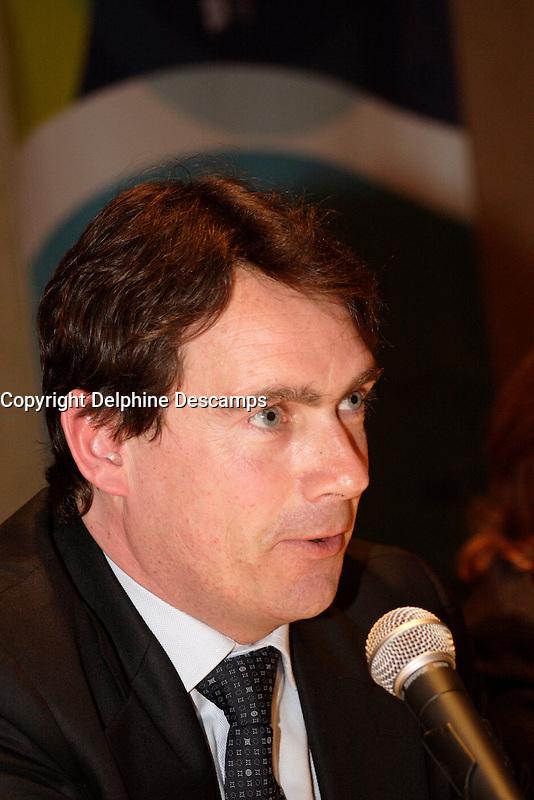 April 24, 2006 Montreal (QC) CANADA<br /> <br /> <br /> Pierre Karl Peladeau, President and CEO / President et Chef de la Direction, Quebecor<br /> 6e Symposium international sur le droit d'auteur de l'Union internationale des &Egrave;diteurs 23 - 25 avril 2006 , Montr&Egrave;al.<br /> Photo : Delphine Descamps - (c) 2006 Images Distribution