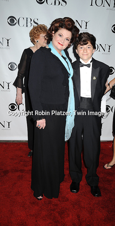 actress Faith Prince and son .posing for photographers at the 62nd Annual Tony Awards.on June 15, 2008 at Radio City Music Hall. ..Robin Platzer, Twin Images