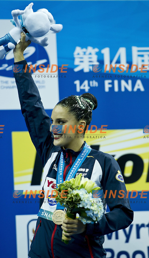 Shanghai ,  (CHN) 16-31 July 2001.XIV FINA Swimming World Championships.day 02.Solo Tech.Final..FUENTES Andrea     bronze medal..Photo Insidefoto / Giorgio Scala