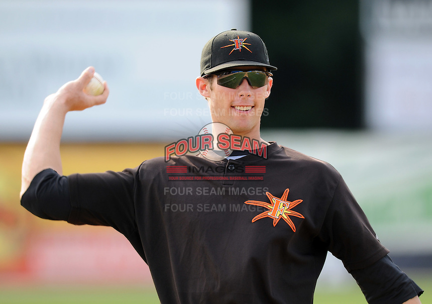 June 20, 2008: Infielder Billy Rowell (11) of the Frederick Keys, Carolina League affiliate of the Baltimore orioles, prior to a game against the Potomac Nationals at G. Richard Pfitzner Stadium in Woodbridge, Va. Photo by:  Tom Priddy/Four Seam Images