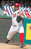 Washington Nationals starting pitcher Tanner Roark (57) works in the seventh inning against the Atlanta Braves at Nationals Park in Washington, D.C. on Sunday, August 14, 2016.  The Nationals won the game 9 - 1.<br /> Credit: Ron Sachs / CNP