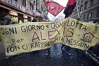 Roma, 19 Gennaio 2013.Corteo dei movimenti per il diritto all'abitare contro gli sgomberi e la svendita degli spazi pubblici