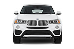 Car photography straight front view of a 2017 BMW X4 xDrive28i 5 Door SUV Front View