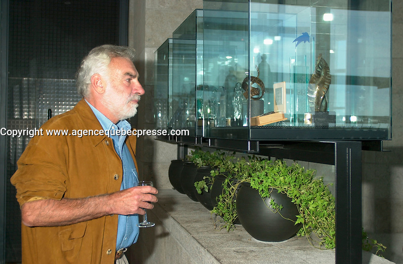 August 23,  2002, Montreal, Quebec, Canada<br /> <br /> ANTONIO BETANCOR, member of  the Jury of the 2002 Montreal World Films Festival, held Aug 22 to Sept 2 2002  in  Montreal, Quebec, Canada, at the Telefilm Canada Reception<br /> <br /> Born in 1944, Antonio Betancor brought a new elan to the Spanish cinema in the late 1970s and early 1980s with such films as Sitting on the Edge of Tomorrow With One's Feet Hanging (1978) and VALENTINA (1982), both winners of prestigious prizes in Spain. His latest film, MARAR&Otilde;A (1998), adapted from the novel by Rafael Arozarena on life in the Canary Islands in the 1940s, was shown in a score of festivals worldwide. It won the Goya (the Spanish Oscar) for best cinematography as well as first prize at the 1999 Miami Hispanic Film Festival. <br /> <br /> <br /> <br /> Mandatory Credit: Photo by Pierre Roussel- Images Distribution. (&copy;) Copyright 2002 by Pierre Roussel <br /> <br /> NOTE : <br />  Nikon D-1 jpeg opened with Qimage icc profile, saved in Adobe 1998 RGB<br /> .Uncompressed  Uncropped  Original  size  file availble on request.