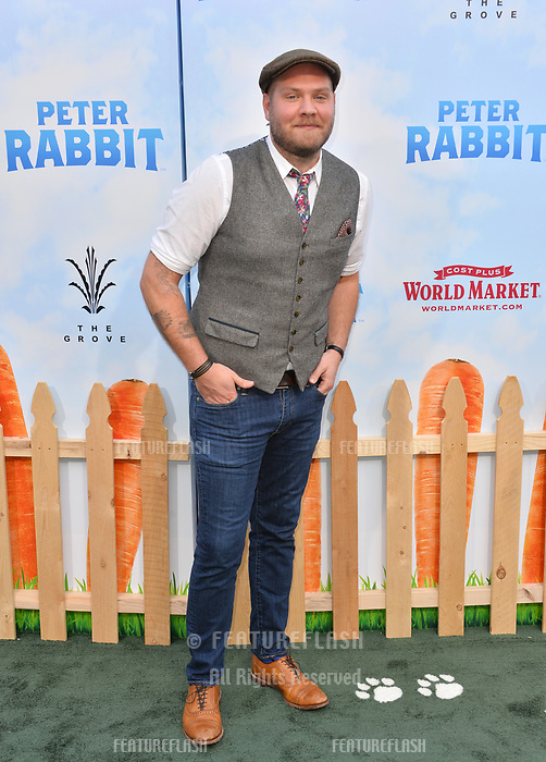 Dominic Lewis at the world premiere for &quot;Peter Rabbit&quot; at The Grove, Los Angeles, USA 03 Feb. 2018<br /> Picture: Paul Smith/Featureflash/SilverHub 0208 004 5359 sales@silverhubmedia.com