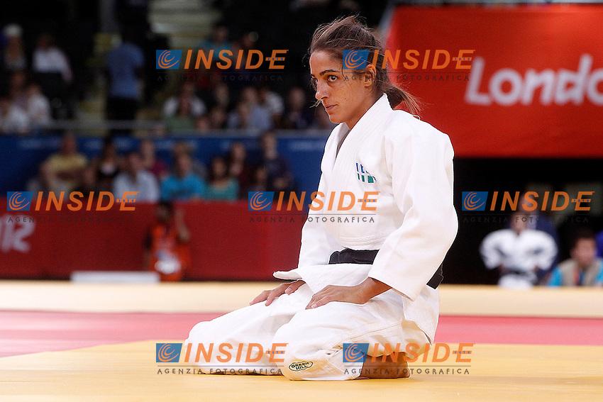 Londra 30/07/2012 ExCeL Arena.Olimpiadi Londra 2012 Judo femminile -57Kg.Giulia Quintavalle combatte contro 'austriaca Sabrina Filzmoser per il ripescaggio per la medaglia di bronzo.Foto Insidefoto Paolo Nucci.