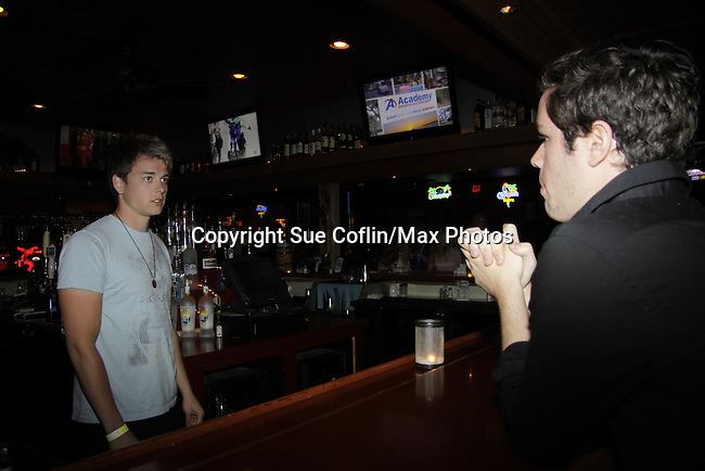 Chad Duell & Eddie Alderson - General Hospital at 15th Southwest Florida Soapfest 2014 Charity Weekend with a Bartending/Karaoke get together on May 26, 2104 at Porky's, Marco Island, Florida. (Photo by Sue Coflin/Max Photos)
