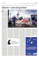 die tageszeitung taz (German daily) on the separatist conflict in Eastern Ukraine, 12.2015.<br />