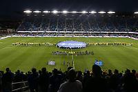 San Jose, CA - Saturday September 15, 2018: Pre-game ceremony during a Major League Soccer (MLS) match between the San Jose Earthquakes and Sporting Kansas City at Avaya Stadium.