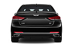 Straight rear view of 2017 Genesis G80 3.8-AWD 4 Door Sedan Rear View  stock images