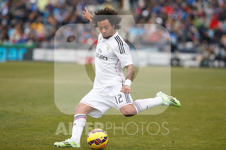 Real Madrid´s Marcelo Vieira during La Liga match at Coliseum Alfonso Perez stadium  in Getafe, Spain. January 18, 2015. (ALTERPHOTOS/Victor Blanco)