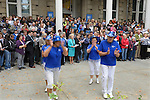 "The Capital City Cloggers, on Thursday, Oct. 30, 2014, take part in #NevadaSings!, a statewide sing-a-long of ""Home Means Nevada."" Approximately 370 people took part in the Carson City portion of the event, which seeks to establish a new record for the most people in an American state to sing their state song at the same time."