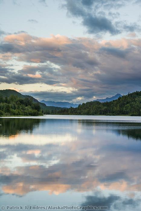 Long lake, Glenn Highway, Alaska