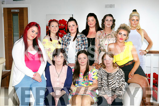Selena Coffey, Tralee , celebrating her 22nd Birthday with family and friends at La Scala's on Saturday Pictured front l-r Breda Coffey, Jennifer O'Sullivan, Celina Coffey, Helen Coffey, Anna Cray. Back l-r Nicole O Sullivan, Yvonne Coffey, Elizabeth Coffey, Cheyenne Cunningham, Andrea Bustard