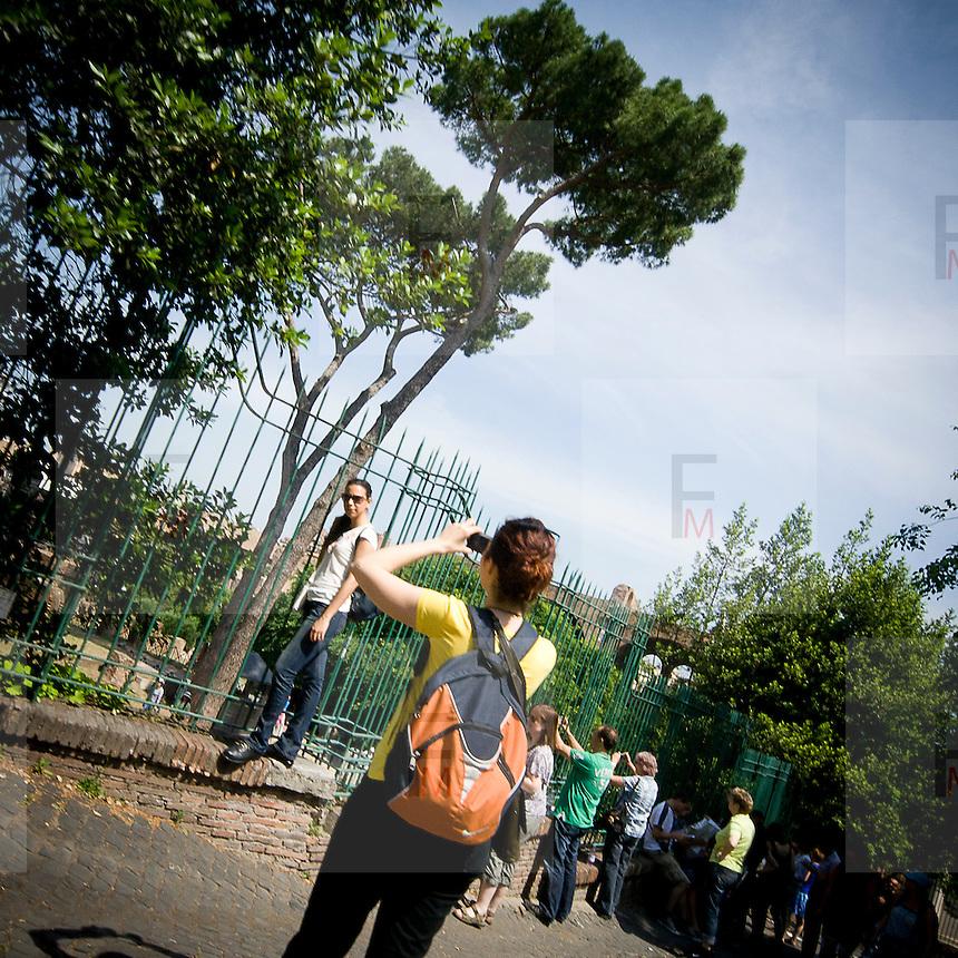 Turisti a Roma..Tourists in Rome