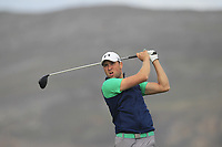 Jonathan Yates from Ireland on the 4th tee during Round 2 Singles of the Men's Home Internationals 2018 at Conwy Golf Club, Conwy, Wales on Thursday 13th September 2018.<br /> Picture: Thos Caffrey / Golffile<br /> <br /> All photo usage must carry mandatory copyright credit (&copy; Golffile | Thos Caffrey)