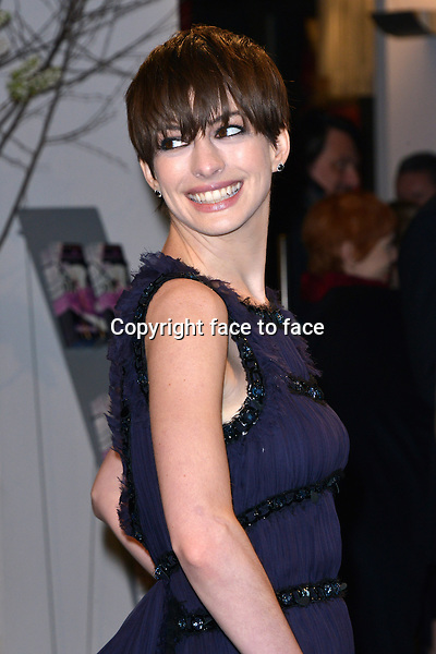 """Anne Hathaway attending """"Les Miserables"""" Premiere at Friedrichstadtpalast, Berlin, 09.02.2013...Credit: Michael Timm/face to face"""