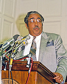 United States Representative Charlie Rangel (Democrat of New York) holds a press conference to call for a .5% tax to pay for a new drug plan on Wednesday, September 6, 1989 in Washington, D.C. .Credit: Howard L. Sachs / CNP