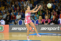 Rebecca Bulley in action during the ANZ Championship 2014 - Haier Pulse v Adelaide Thunderbirds at Te Rauparaha Arena Centre, Porirua, New Zealand on Monday 3 March 2014.<br />