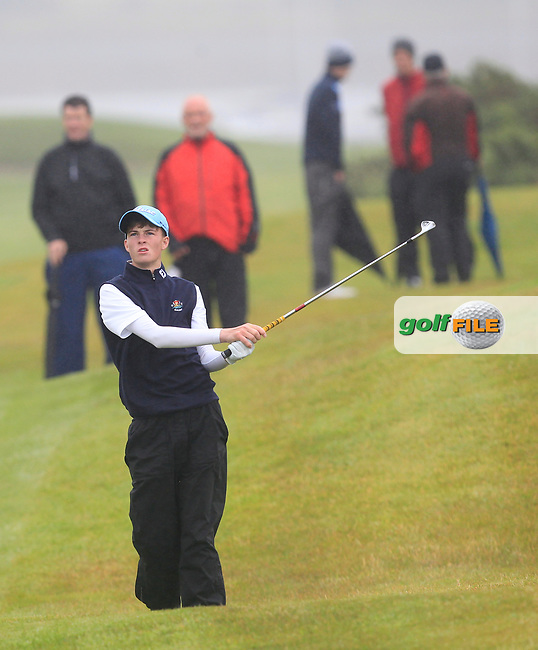 Luke O'Neill (Galway) on the 17th fairway during the Connacht Semi-Final of the AIG Barton Shield at Galway Bay Golf Club, Galway, Co Galway. 11/08/2017<br /> Picture: Golffile | Thos Caffrey<br /> <br /> <br /> All photo usage must carry mandatory copyright credit     (&copy; Golffile | Thos Caffrey)