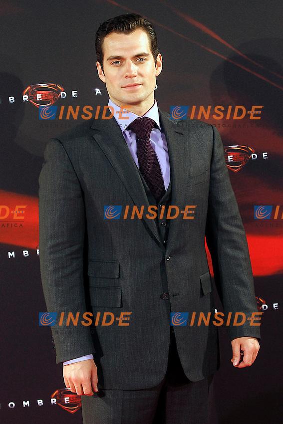 The actor Henry Cavill attends the spanish premier of the film 'Man of Steel&quot; (El hombre de acero).June 17,2013.(ALTERPHOTOS/Acero) <br /> foto INSIDEFOTO
