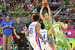 06.09.2014. Barcelona, Spain. 2014 FIBA Basketball World Cup, round of 16. Picture show K. Prepelic in action during game between Dominican Republic  v Slovenia  at Palau St. Jordi