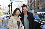 General Hospital's Finola Hughes & Jason Thompson both taped Katie Couric's Talk Show on April 2, 2013 in New York City, New York. Fans came to the show and were outside the studio to greet the actors as they left. (Photo by Sue Coflin/Max Photos)