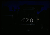 Rear view of D&amp;RGW #476 K-28 probably in an engine house (very dark photo - night?)<br /> D&amp;RGW