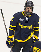 Sami Tavernier (Merrimack - 25) - The visiting Merrimack College Warriors defeated the Boston College Eagles 6 - 3 (EN) on Friday, February 10, 2017, at Kelley Rink in Conte Forum in Chestnut Hill, Massachusetts.