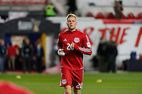 Harrison, NJ - Wednesday Feb. 22, 2017: Justin Bilyeu prior to a Scotiabank CONCACAF Champions League quarterfinal match between the New York Red Bulls and the Vancouver Whitecaps FC at Red Bull Arena.