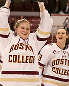 Ryan Little (BC - 20) - The Boston College Eagles defeated the Northeastern University Huskies 2-1 to win the Beanpot on Monday, February 7, 2017, at Matthews Arena in Boston, Massachusetts.