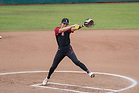 STANFORD, CA -- March 3, 2019. The Stanford Cardinal women's softball team defeats the North Dakota State Bison 3-2 at the Smith Family Stadium.