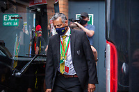27th June 2020; Carrow Road, Norwich, England; FA Cup 6th round tie, Norwich City versus Manchester united; Teams arriving at the stadium pre-match;  Norwich City Football Club official assists in checking in players and staff