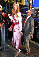 NEW YORK, NY - NOVEMBER 1:  Martha Hunt seen leaving Good Morning America promoting  the 2018 Victoria's Secret Fashion Show on November 01, 2018 in New York City. <br /> CAP/MPI/RW<br /> &copy;RW/MPI/Capital Pictures