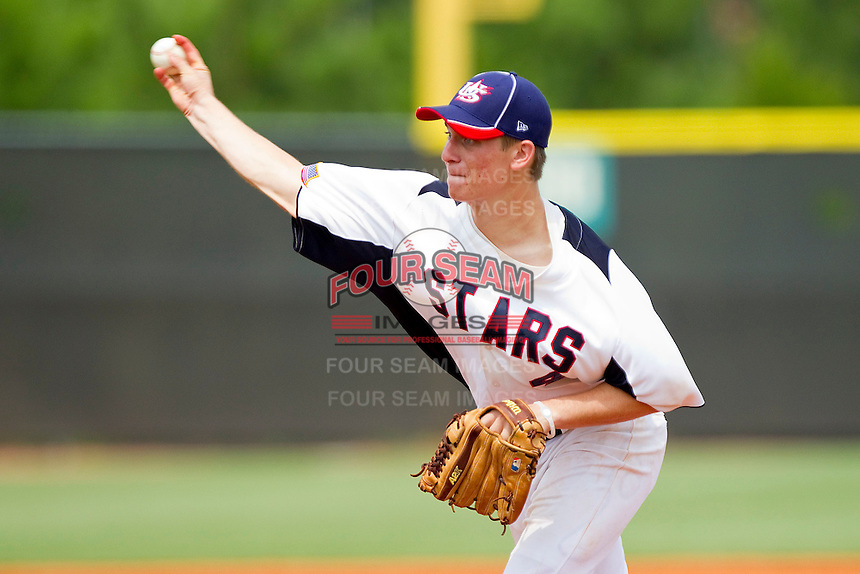 Marc Brakeman #4 of STARS in action against RBI at the 2011 Tournament of Stars at the USA Baseball National Training Center on June 26, 2011 in Cary, North Carolina. (Brian Westerholt/Four Seam Images)
