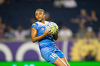 Orlando, FL - Saturday July 16, 2016: Samantha Johnson during a regular season National Women's Soccer League (NWSL) match between the Orlando Pride and the Chicago Red Stars at Camping World Stadium.