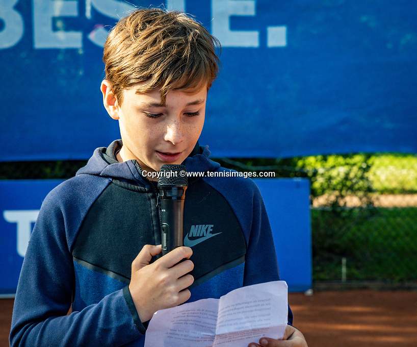 Hilversum, Netherlands, Juli 29, 2019, Tulip Tennis center, National Junior Tennis Championships 12 and 14 years, NJK, Opening, Mees Röttering (NED)<br /> Photo: Tennisimages/Henk Koster