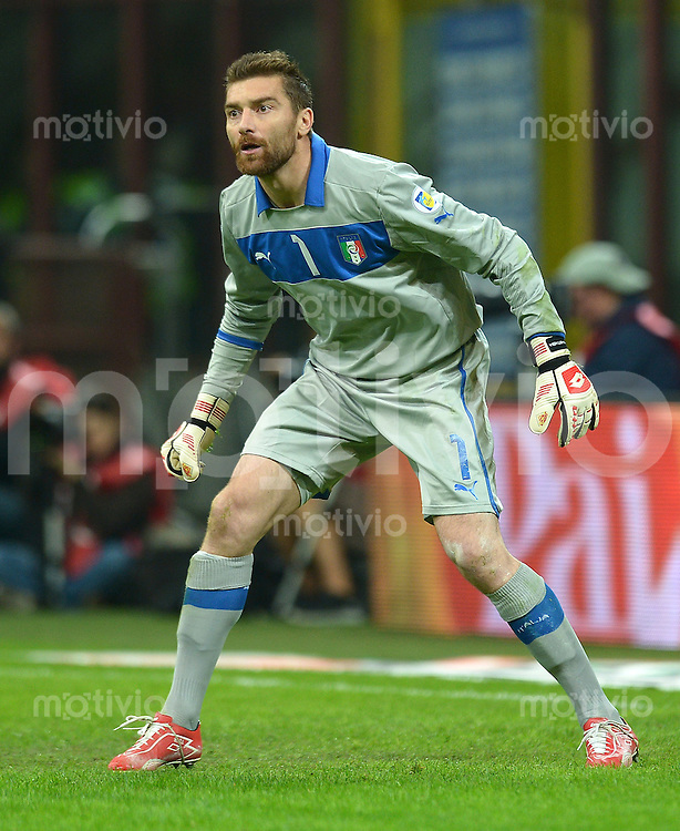 Fussball International  WM Qualifikation 2014   Italien - Daenemark                16.10.2012 Torwart Morgan De Sanctis (Italien)