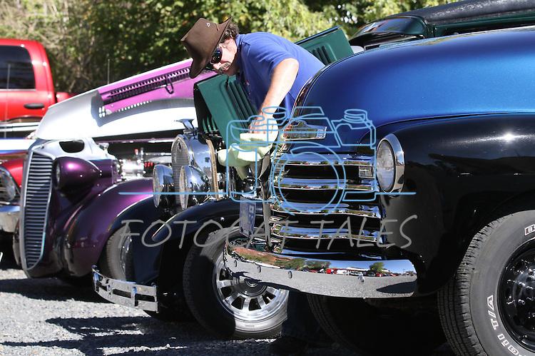 Daniel South, of Dayton, polishes his 1952 Chevy 3600 truck during Dayton Valley Days in Dayton, Nev., on Saturday, Sept. 18, 2010..Photo by Cathleen Allison