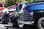 Daniel South, of Dayton, polishes his 1952 Chevy 3600 truck during Dayton Valley Days in Dayton, Nev., on Saturday, Sept. 18, 2010..Photo by Cathleen Allison