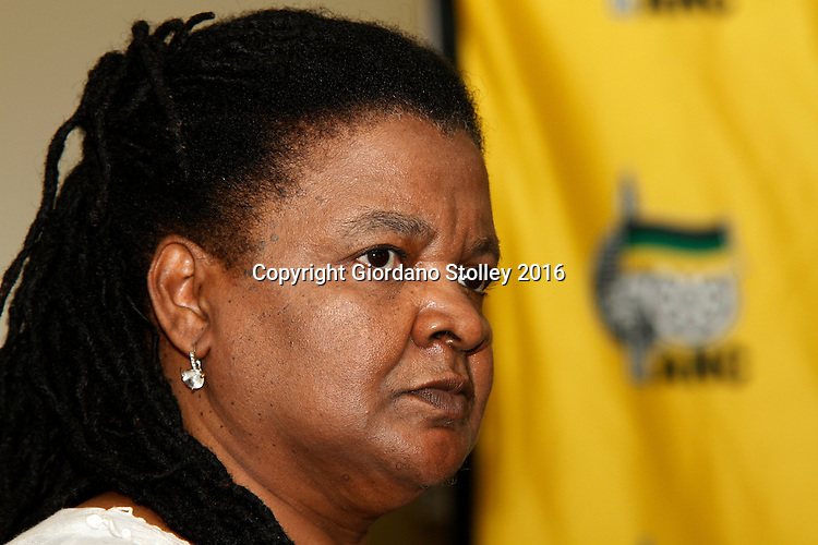 DURBAN - 22 February 2016 - Barbara Fortein, the treasurer for the African National Congress's eThekwini region, speaks at a press press conference in Durban where it was announced that the Delangokubona KZN Business Forum had agreed to stop disrupting municipal services. The group had complained that the eThekwini Metro Municipality was excluding them from bidding for municipal tenders. Picture: Allied Picture Press/APP