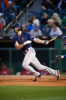 Pawtucket Red Sox first baseman Jantzen Witte (31) at bat during a game against the Buffalo Bisons on August 31, 2017 at Coca-Cola Field in Buffalo, New York.  Buffalo defeated Pawtucket 4-2.  (Mike Janes/Four Seam Images)