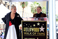 LOS ANGELES - FEB 5:  Pink, Ellen DeGeneres at the Pink Star Ceremony on the Hollywood Walk of Fame on February 5, 2019 in Los Angeles, CA