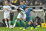 04.11.2018, Stadion im Borussia-Park, Moenchengladbach, GER, 1. FBL, Borussia Moenchengladbach vs. Fortuna Duesseldorf, DFL regulations prohibit any use of photographs as image sequences and/or quasi-video<br /> <br /> im Bild v. li. im Zweikampf Raffael (#11, Borussia M?nchengladbach / Moenchengladbach) Kaan Ayhan (#5, Fortuna D&uuml;sseldorf / Duesseldorf) <br /> <br /> Foto &copy; nordphoto/Mauelshagen