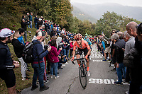 Riccardo Zoidl (AUT/CCC) up the infamous (and crowded) Muro di Sormano (avg 17%/max 25%)<br /> <br /> 113th Il Lombardia 2019 (1.UWT)<br /> 1 day race from Bergamo to Como (ITA/243km)<br /> <br /> ©kramon