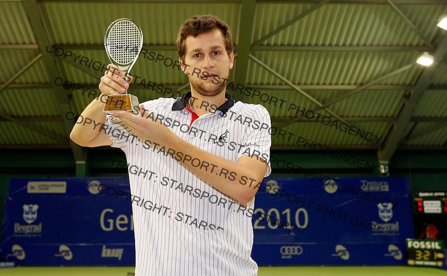 Tennis.Gemax Open 2010, FINAL.Ilija Bozoljac Vs. Karol Beck (SVK).Karol Beck winner Gemax 2010.Belgrade, 19.02.2010..foto: Srdjan Stevanovic©